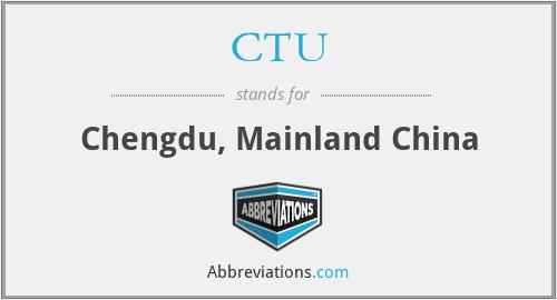 CTU - Chengdu, Mainland China