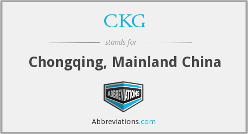 What does CKG stand for?