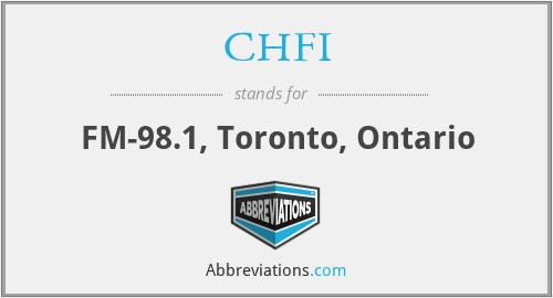 CHFI - FM-98.1, Toronto, Ontario