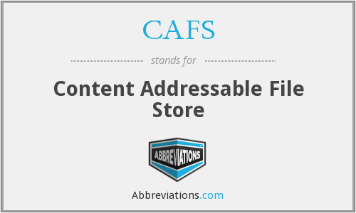 CAFS - Content Addressable File Store