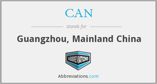 CAN - Guangzhou, Mainland China