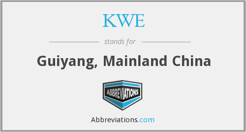 KWE - Guiyang, Mainland China