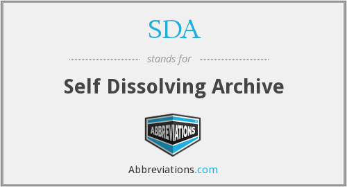 SDA - Self Dissolving Archive