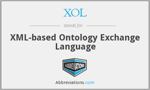 XOL - XML-based Ontology Exchange Language