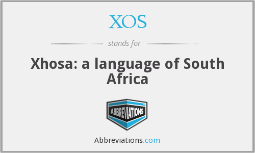 XOS - Xhosa: a language of South Africa
