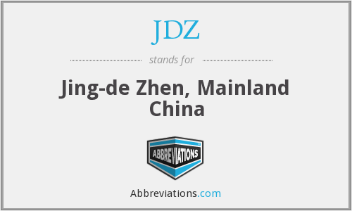 JDZ - Jing-de Zhen, Mainland China