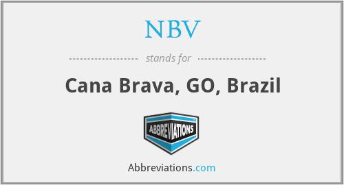 NBV - Cana Brava, GO, Brazil