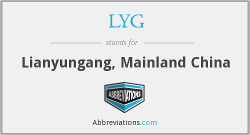 LYG - Lianyungang, Mainland China