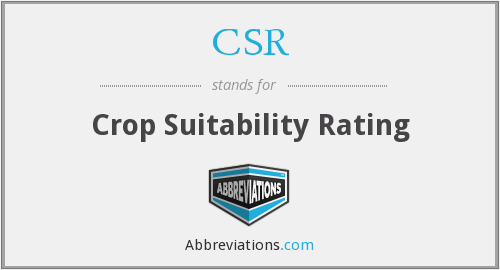 CSR - Crop Suitability Rating