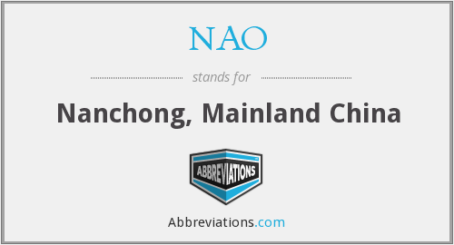 NAO - Nanchong, Mainland China