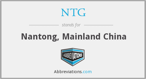 NTG - Nantong, Mainland China