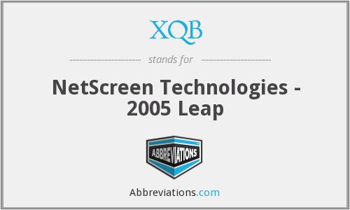 XQB - NetScreen Technologies - 2005 Leap