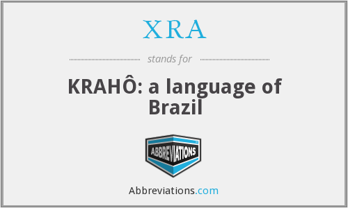 XRA - KRAHÔ: a language of Brazil