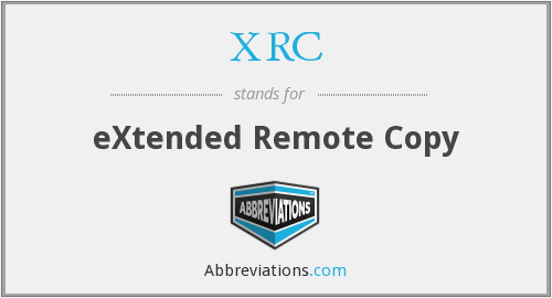 What does XRC stand for?