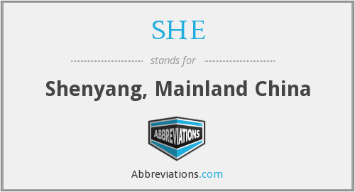 SHE - Shenyang, Mainland China