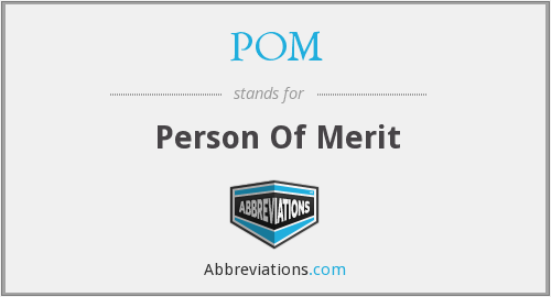 POM - Person Of Merit