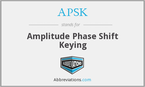 What does APSK stand for?