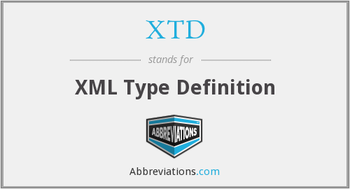 XTD - XML Type Definition