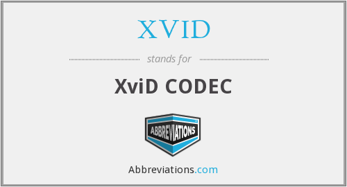 What does XVID stand for?