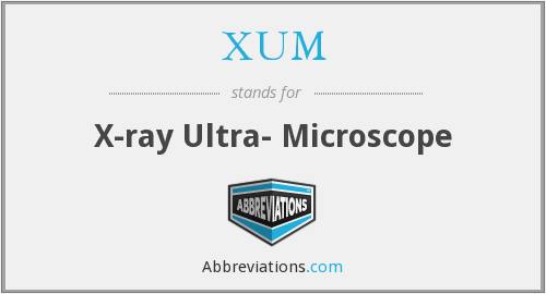 XUM - X-ray Ultra- Microscope