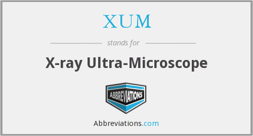 XUM - X-ray Ultra-Microscope