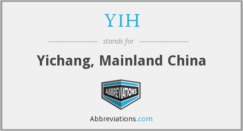 What does YIH stand for?