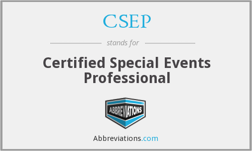 CSEP - Certified Special Events Professional