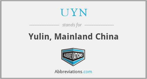 UYN - Yulin, Mainland China
