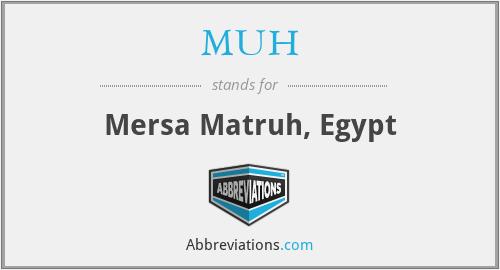 MUH - Mersa Matruh, Egypt