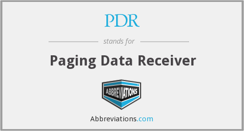 PDR - Paging Data Receiver