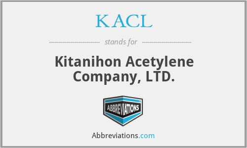 KACL - Kitanihon Acetylene Company, LTD.