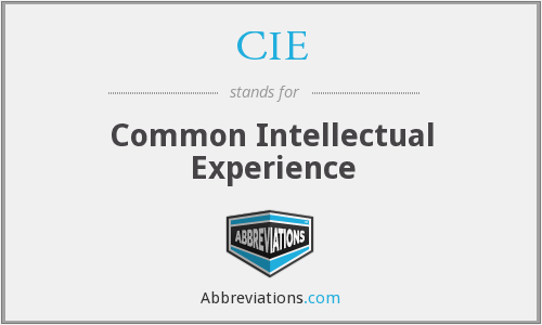 CIE - Common Intellectual Experience