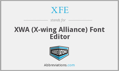XFE - XWA (X-wing Alliance) Font Editor