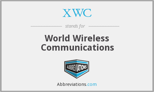 What does XWC stand for?