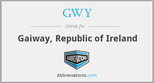 What does GWY stand for?