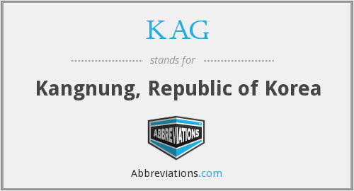 KAG - Kangnung, Republic of Korea