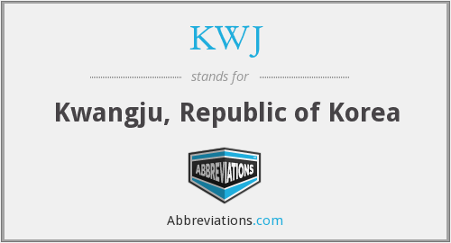 What does KWJ stand for?