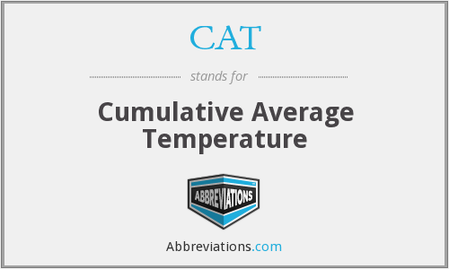 CAT - Cumulative Average Temperature