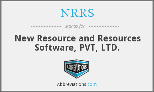 NRRS - New Resource and Resources Software, PVT, LTD.