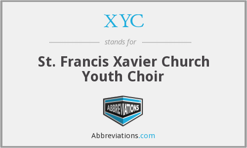 XYC - St. Francis Xavier Church Youth Choir