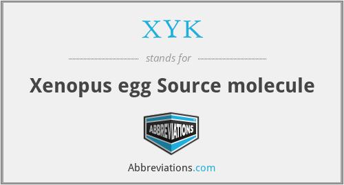 XYK - Xenopus egg Source molecule