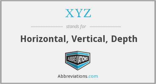 XYZ - Horizontal, Vertical, Depth