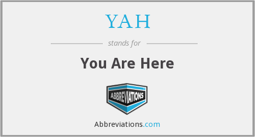 YAH - You Are Here