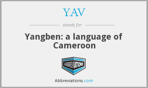 YAV - Yangben: a language of Cameroon