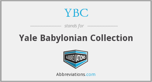 YBC - Yale Babylonian Collection