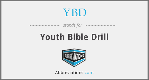 YBD - Youth Bible Drill