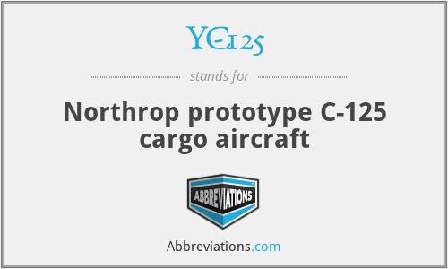 YC-125 - Northrop prototype C-125 cargo aircraft