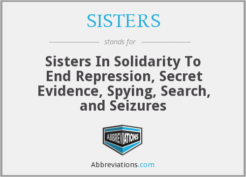 What does SISTERS stand for?