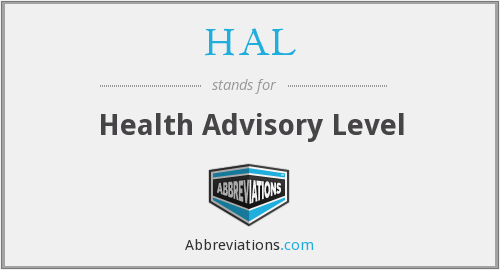 HAL - Health Advisory Level