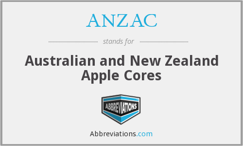 ANZAC - Australian and New Zealand Apple Cores